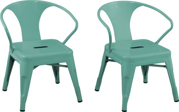Kids Bixy Teal Chair, Set of 2