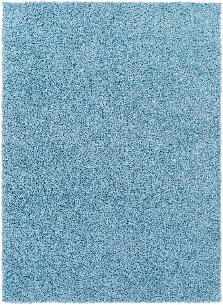 Kids Blissful Pastel Baby Blue 7' x 9' Rug