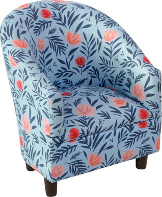 Bodoni Sky Toddler Accent Chair