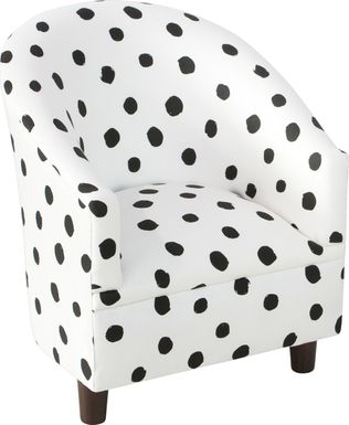 kids bodoni white accent chair