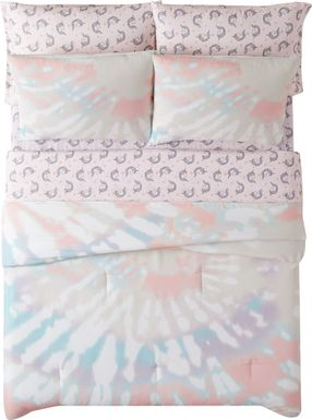 Kids Boho Chique Pink 5 Pc Twin Comforter Set