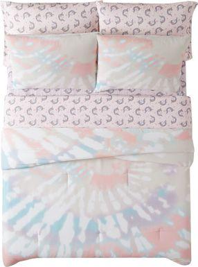 Kids Boho Chique Pink 7 Pc Full Comforter Set