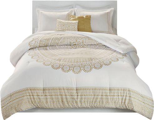 Kids Boho Gold 4 Pc Twin XL Comforter Set