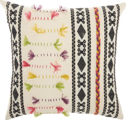 Kids Boho Guide Cream Accent Pillow