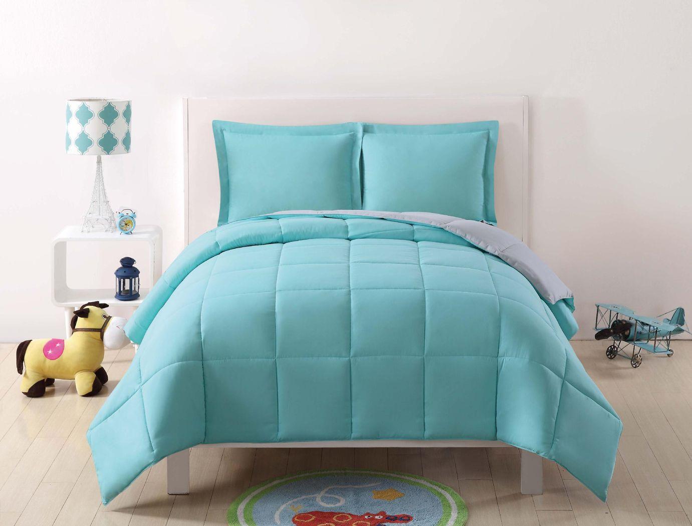 Kids Boyette Turquoise/Gray 2 Pc Twin Comforter Set
