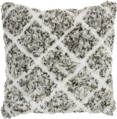 Kids Bright Lattice Gray Accent Pillow