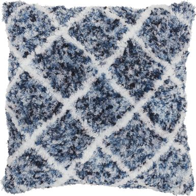 Kids Bright Lattice Navy Accent Pillow