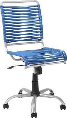 Kids Bungee Twist Blue Desk Chair