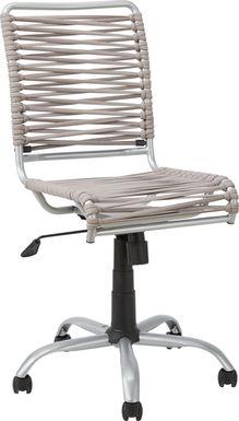 Kids Bungee Twist Gray Desk Chair