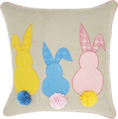 Kids Bunny Burrow Beige Accent Pillow
