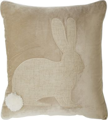 Kids Bunnyton Natural Accent Pillow