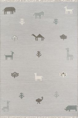 Kids Busy Meadow Gray 5' x 7'6 Rug