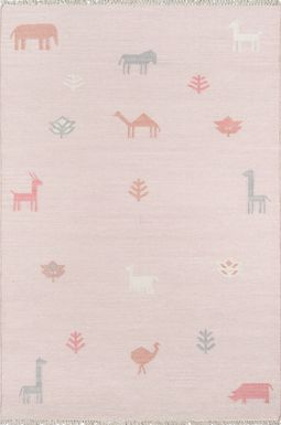 Kids Busy Meadow Pink 5' x 7'6 Rug