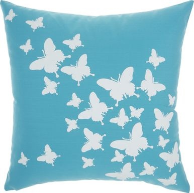 Kids Butterfly Flutter Teal Accent Pillow