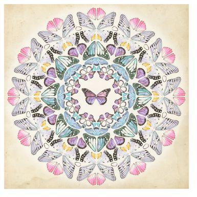 Kids Butterfly Medallion Purple Artwrok