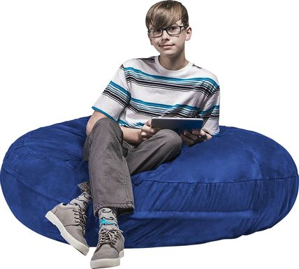 Kids Calix Blue Bean Bag Chair