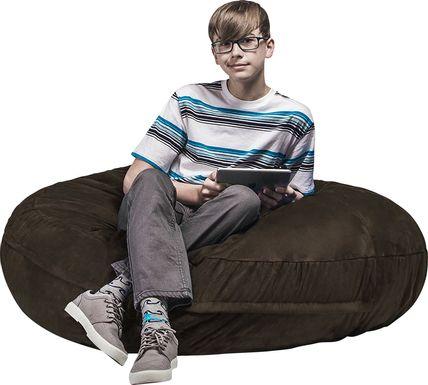 Kids Calix Brown Bean Bag Chair