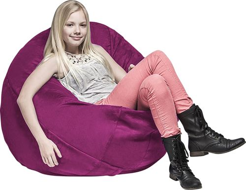 Kids Calix Fuchsia Bean Bag Chair