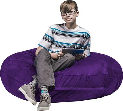Kids Calix Purple Bean Bag Chair