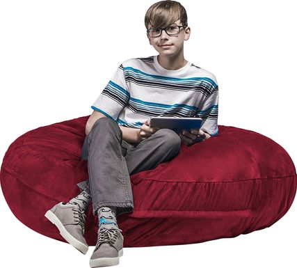 Kids Calix Red Bean Bag Chair