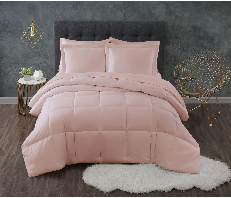 Kids Calming Colors Blush 3 Pc Full/Queen Comforter Set
