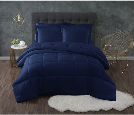 Kids Calming Colors Navy 3 Pc Full/Queen Comforter Set