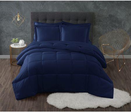 Kids Calming Colors Navy 3 Pc Full/Queen Comforter Set
