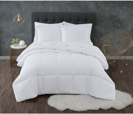 Kids Calming Colors White 3 Pc Full/Queen Comforter Set
