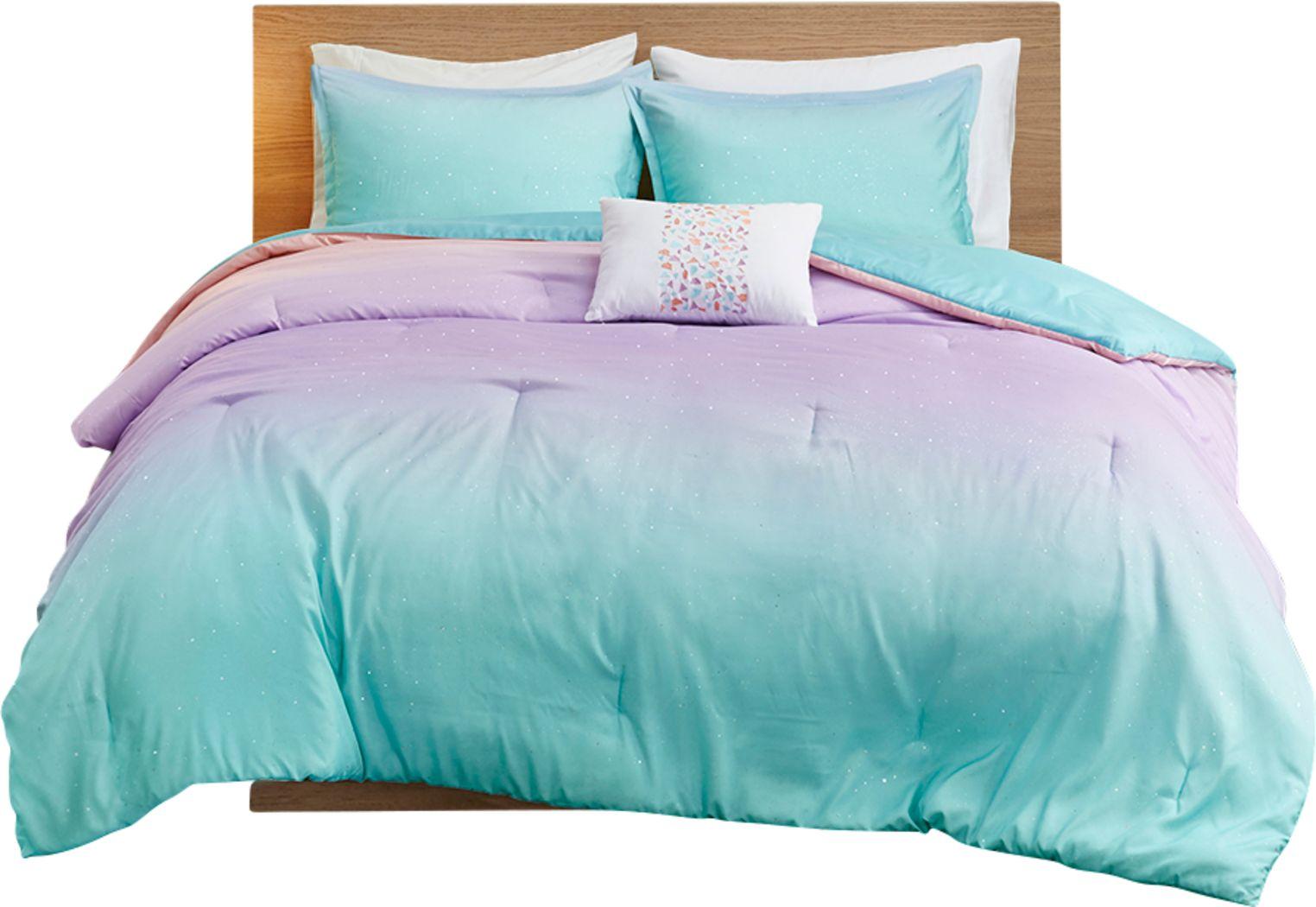 Kids Candy Ombre Aqua 3 Pc Twin XL Comforter Set