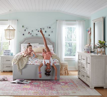 Kids Canyon Lake Gray 5 Pc Twin Upholstered Bedroom