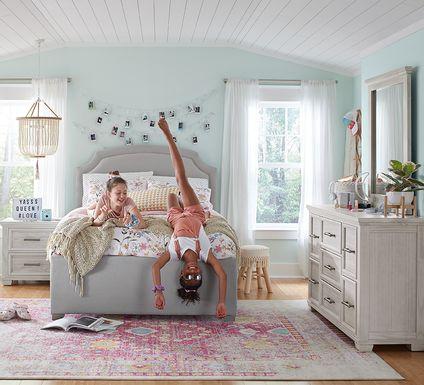 Kids Canyon Lake Gray 5 Pc Full Upholstered Bedroom