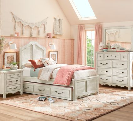 Kids Caraway Cove Gray 5 Pc Twin Panel Bedroom