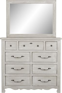 Kids Caraway Cove Gray Dresser & Mirror Set