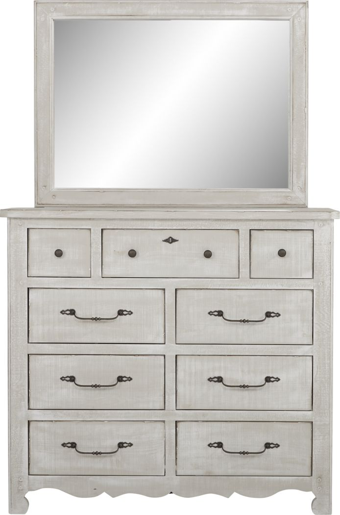 Kids Caraway Cove Gray Dresser & Mirror Set