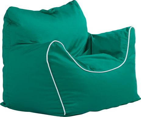 kids cassidy emerald bean bag chair