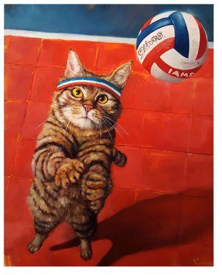 Kids Cat Volley Red Artwork
