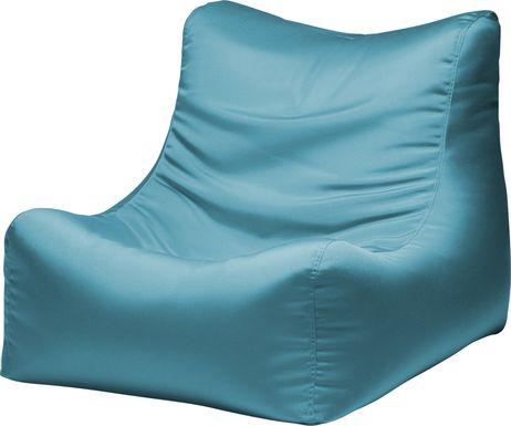 Kids Chatty Garden Blue Indoor/Outdoor Bean Bag Chair