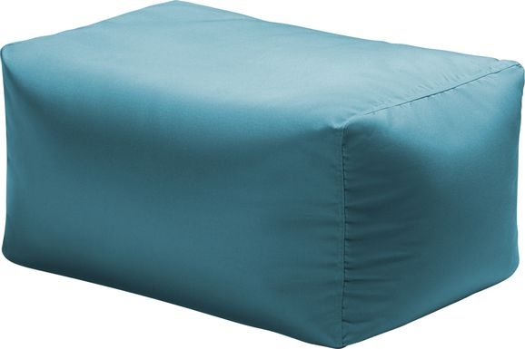 Kids Chatty Garden Blue Indoor/Outdoor Ottoman