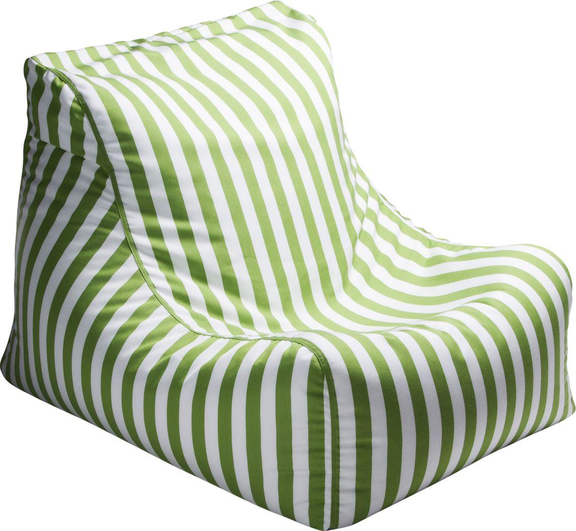 Kids Chatty Garden Green/White Indoor/Outdoor Bean Bag Chair