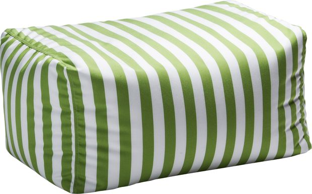 Kids Chatty Garden Green/White Indoor/Outdoor Ottoman