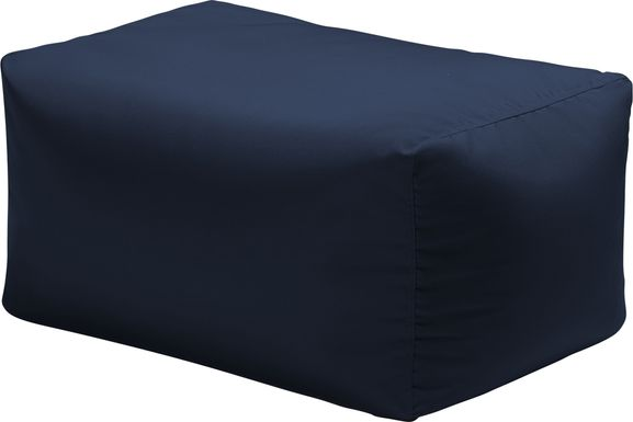Kids Chatty Garden Navy Indoor/Outdoor Ottoman