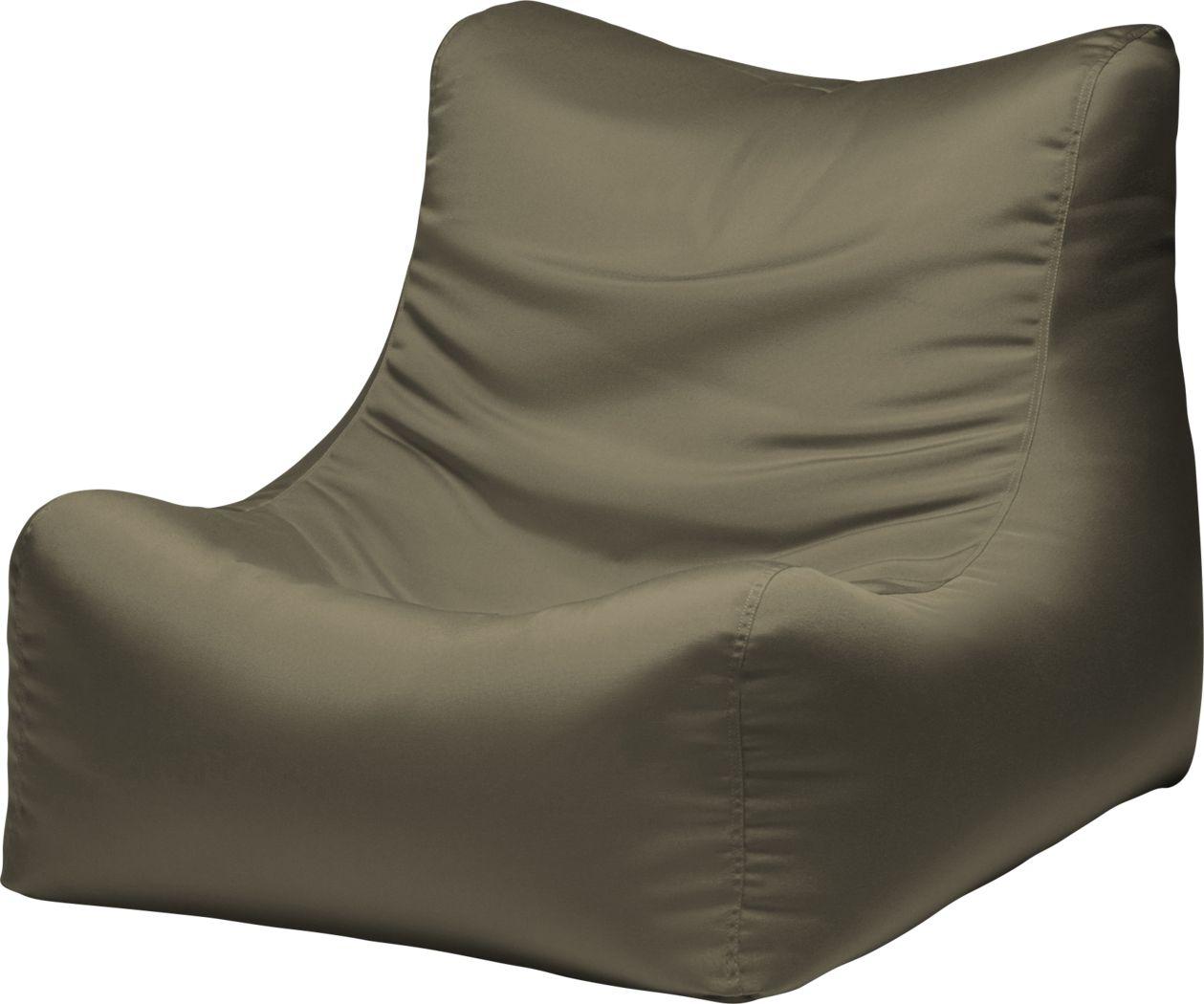 Kids Chatty Garden Taupe Indoor/Outdoor Bean Bag Chair