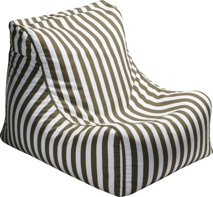 Kids Chatty Garden Taupe/White Indoor/Outdoor Bean Bag Chair