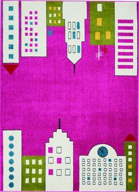 Kids City Limits Pink 5'2 x 7' Rug