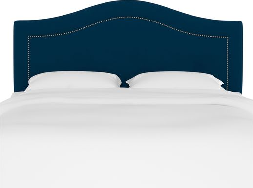 Kids Classical Notes Navy Upholstered Full Headboard