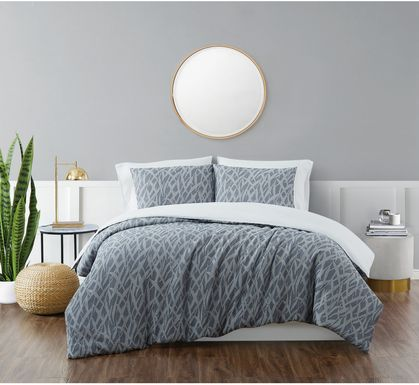 Kids Classy Scribbles Blue 2 Pc Twin XL Comforter Set