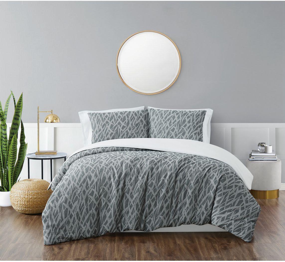 Kids Classy Scribbles Gray 2 Pc Twin XL Comforter Set