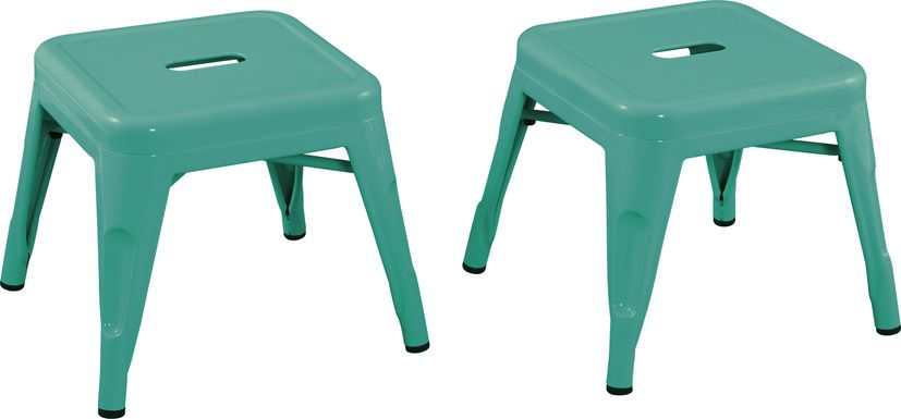 Kids Cleome Teal Chair, Set of 2