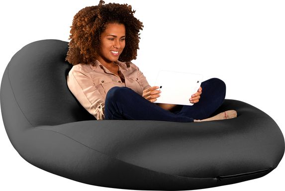 Kids Cloud Nest Large Black Bean Bag Chair