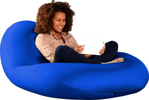 Kids Cloud Nest Large Blue Bean Bag Chair